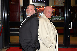 Pictured are Dave Courtney (right) and on screen brother Jerry Anderson (left).<br /> London gangster Dave Courtney arrives on the red carpet for the film premiere of 'Full English Breakfast' that he stars in, at The Prince Charles Cinema, London, UK.<br /> Tuesday, 25th March 2014. Picture by Ben Stevens / i-Images