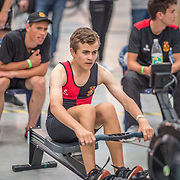 Kieran Joyce MALE LIGHTWEIGHT U17 1K Race #13  12:15pm<br /> <br /> www.rowingcelebration.com Competing on Concept 2 ergometers at the 2018 NZ Indoor Rowing Championships. Avanti Drome, Cambridge,  Saturday 24 November 2018 © Copyright photo Steve McArthur / @RowingCelebration