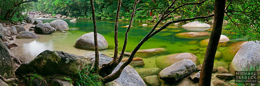 A scene of beautiful Mossman Gorge, captured late in the afternoon, after everyone else had left.<br /> <br /> Code: HAQT0029<br /> <br /> Limited Edition Print