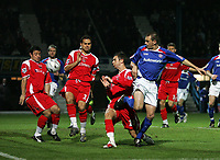 Photo: Paul Thomas.<br /> Chesterfield Town v Charlton Athletic. Carling Cup. 07/11/2006.<br /> <br /> Colin Larkin (R) scores for Chesterfield.