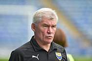Oxford United Assistant Manager, Derek Fazackerley  during the EFL Sky Bet League 1 match between Portsmouth and Oxford United at Fratton Park, Portsmouth, England on 18 August 2018.
