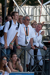 Guerdat Philippe (SUI), Hemeryck Rik (BEL), Lansink Jos (BEL), Melchior Judy Ann (BEL)chef<br /> FEI Nations Cup Rome 2011<br /> © Dirk Caremans