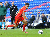 Football - 2020 / 2021 UEFA Nations League - Group B4 - Wales vs Bulgaria<br />      <br /> Daniel James of Wales on the attack<br /> in a match played with no crowd due to Covid 19 coronavirus emergency regulations, in an almost empty ground, at the Cardiff City Stadium.<br /> <br /> COLORSPORT/WINSTON BYNORTH