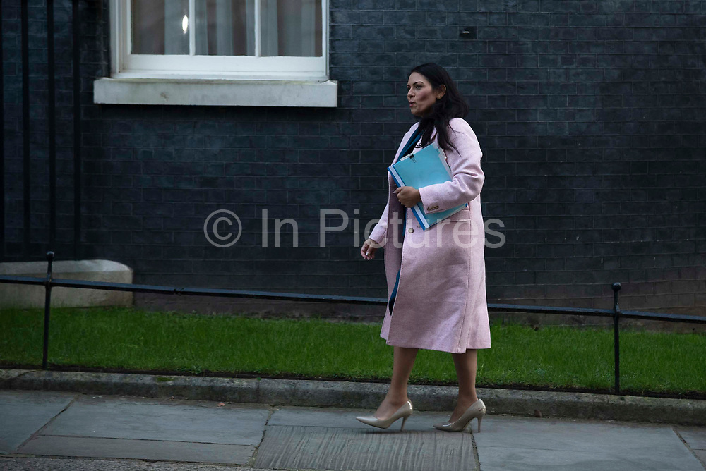 Home secretary Priti Patel arrives for a cabinet meeting in Downing Street on January 21st 2020 in London, United Kingdom.