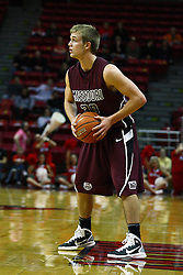 12 February 2011: Nathan Scheer during an NCAA Missouri Valley Conference basketball game between the Missouri State Bears and the Illinois State Redbirds at Redbird Arena in Normal Illinois.