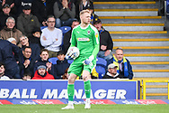 AFC Wimbledon Goalkeeper Aaron Ramsdale (35) during the EFL Sky Bet League 1 match between AFC Wimbledon and Wycombe Wanderers at the Cherry Red Records Stadium, Kingston, England on 27 April 2019.