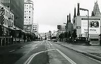 1970 Looking west on Hollywood Blvd from Highland Ave. near Seven Seas Restaurant