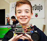 24/11/2019 repro free:  Coderdojo Kinvara's Liam Farrenat who won the  Volunteer group award at the exhibition day of the Galway Science and Technology Festival at NUI Galway where over 20,000 people attended exhibition stands  from schools to Multinational Companies . Photo:Andrew Downes, xposure