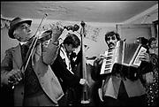 Roma - 'Taraf de Hadouks' - renowned Gypsy musicians from Clejani, Wallachia, Romania. August 1996