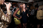 NAOMI CAMPBELL; STELLA MCCARTNEY; , Dinner hosted by editor of British Vogue, Alexandra Shulman in association with Net-A-Porter.com in honour of 25 years of London Fashion Week and Nick Knight. Caprice. London.  September 21, 2009