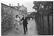 Kirsten English, William Hague, Magdalen Ball. Oxford. 27 June 1982.