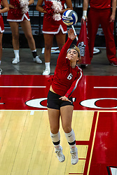 BLOOMINGTON, IL - September 28: Carley Nicholson during a college Women's volleyball match between the ISU Redbirds and the Southern Illinois Salukis on September 28 2019 at Illinois State University in Normal, IL. (Photo by Alan Look)