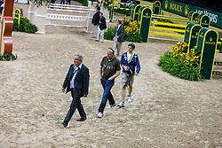 Guerdat Philippe, SUI, Philippaerts Johan, Philippaerts Olivier, BEL<br /> World Cup Final Jumping - Las Vegas 2009<br /> © Hippo Foto - Dirk Caremans<br /> 19/04/2009