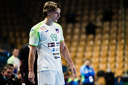 Jure Dolenec of Slovenia during Men's EHF EURO 2022 Qualifiers between national teams Slovenia and Netherlands in Arena Zlatorog, Celje, Slovenia on 10. January, 2021. Photo by Grega Valancic