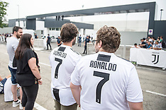 Juventus fans await Cristiano Ronaldo in the J Village - 16 July 2018