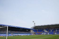 Birmingham City's stadium in the sunshine before the match at St Andrew's stadium