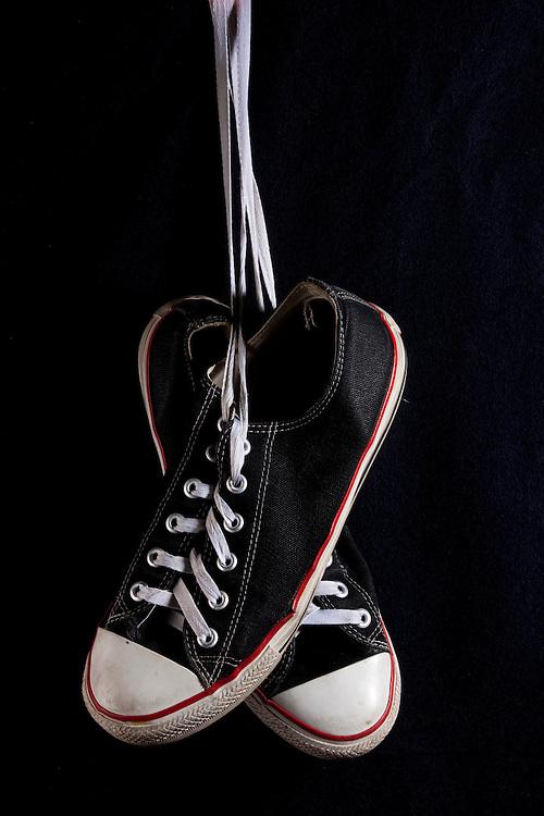 Belo Horizonte_MG, Brasil...Detalhe de um tenis All Star...Detail of a All Star shoes...Foto: LEO DRUMOND / NITRO