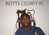 Fotball<br /> England<br /> Foto: Colorsport/Digitalsport<br /> NORWAY ONLY<br /> <br /> Sol Campbell Press Conference<br /> Notts County, Meadow Lane, Nottingham, UK<br /> 25/08/2009.
