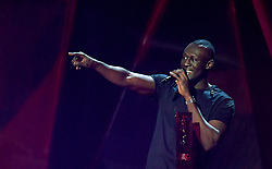 Stormzy accepts the award for Best British Album during the 2018 BRIT Awards show, held at the O2 Arena, London. EDITORIAL USE ONLY. PRESS ASSOCIATION Photo. Picture date: Wednesday February 21, 2018. See PA Story SHOWBIZ Brits. Photo credit should read: Victoria Jones/PA Wire.