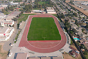 A general view of the McFarland High School track, Saturday, Oct. 31, 2020, in McFarland, Calif.
