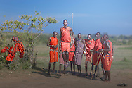 The Adumu, or jumping dance, is one of the most recognized traditions of Kenya's Maasai tribesmen. The dance is accompanied by polyphonic rhythmic vocals performed by men and women, in a call and response fashion. Lyrics are often repetitions of vocal melodies with no precise meaning, lullabies, flirting songs or vocal scales. During the adumu, young men will jump as high as they can and the singing's pitch will rise and fall to follow their movements.