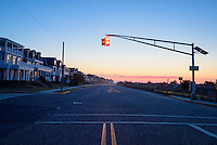 Beach Avenue, Cape May, New Jersey at sunrise.
