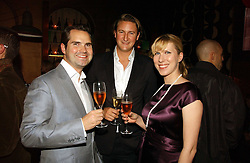 Left to right, JIMMY CARR, ALEX FIELD and KAROLINE COPPING at a party hosted by Dom Perignon at Sketch, Conduit Street, London on 18th October 2006.<br /><br />NON EXCLUSIVE - WORLD RIGHTS