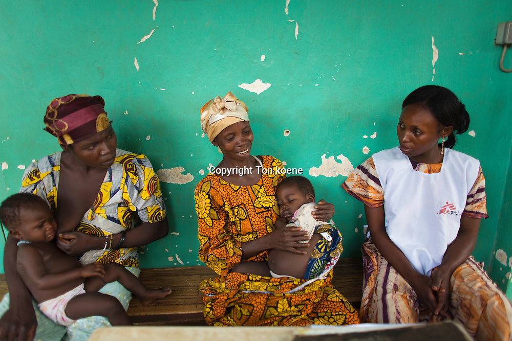 sick patients at MSF hospital in central african republic
