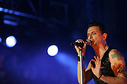 CHICAGO, IL - AUGUST 7: Depeche Mode performs at 2009 Lollapalooza Music Festival on August 7, 2009 in Grant Park, Chicago, Illinois. Photo by Bryan Rinnert/3Sight Photography