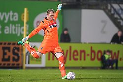 November 11, 2017 - Westerlo, BELGIUM - Westerlo's goalkeeper Kristof Van Hout pictured in action during a soccer game between KVC Westerlo and Royale Union Saint-Gilloise, in Westerlo, Saturday 11 November 2017, on day 15 of the division 1B Proximus League competition of the Belgian soccer championship. BELGA PHOTO BRUNO FAHY (Credit Image: © Bruno Fahy/Belga via ZUMA Press)