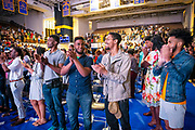 """North Carolina Agricultural and Technical State University students, alumni and guests clap after master communicator T.D. Jakes discussed """"Living Your Best Life"""" at  Chancellor's Speaker Series on Thursday, April 11, 2019.<br /><br />(Chris English/Tigermoth Creative)"""