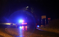 Sunday 7th Feb 2016  Bramshott, Hampshire The Police this evening have closed both side carriageways on the A3 near to the village of Bramshott after a multi vehicle road traffic collision.  The incident involving three vehicles and  High Voltage Power cables. ©UKNIP
