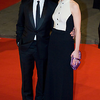 LONDON - FEBRUARY 10: Anne Maroie Duff and James McAvoy arrive  at the Orange British Academy Film Awards at the Royal Opera House on February 10, 2008 in London, England.