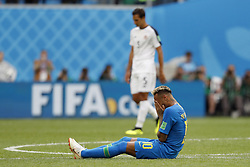 (L-R) Celso Borges of Costa Rica, Neymar of Brazil during the 2018 FIFA World Cup Russia group E match between Brazil and Costa Rica at the Saint Petersburg Stadium on June 22, 2018 in Saint Petersburg, Russia.