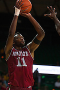 WACO, TX - DECEMBER 17: Johnathon Wilkins #11 of the New Mexico State Aggies shoots the ball against the Baylor Bears on December 17, 2014 at the Ferrell Center in Waco, Texas.  (Photo by Cooper Neill/Getty Images) *** Local Caption *** Johnathon Wilkins