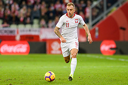 November 15, 2018 - Gdansk, Poland, KAMIL GROSICKI from Poland during football friendly match between Poland - Czech Republic at the Stadion Energa in Gdansk, Poland