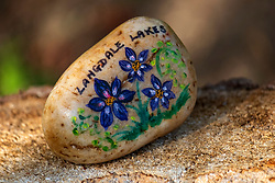 One of the painted pebbles that can be found around  Langdale Lakes <br /> <br /> 23rd April 2021<br /> <br /> www.pauldaviddrabble.co.uk<br /> All Images Copyright Paul David Drabble - <br /> All rights Reserved - <br /> Moral Rights Asserted -