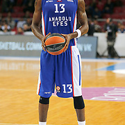 Anadolu Efes's Stephane Lasme during their Turkish Airlines Euroleague Basketball Top 16 Round 11 match Anadolu Efes between Nizhny Novgorod at Abdi ipekci arena in Istanbul, Turkey, Thursday March 19, 2015. Photo by Aykut AKICI/TURKPIX