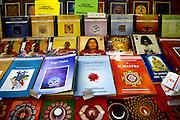 Milano, festival dello yoga al superstudio , gli stand all'interno del festival......Milan . yoga Festival, book stall