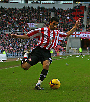 Photo: Andrew Unwin.<br />Sunderland v Ipswich Town. Coca Cola Championship. 13/01/2007.<br />Sunderland's Carlos Edwards.
