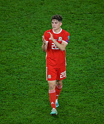 CARDIFF, WALES - Friday, September 6, 2019: Wales' Daniel James applauds the supporters after the UEFA Euro 2020 Qualifying Group E match between Wales and Azerbaijan at the Cardiff City Stadium. Wales won 2-1. (Pic by Paul Greenwood/Propaganda)