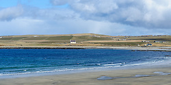 """The Bay of Skaill, Orkney.   Skara Brae is a stone-built Neolithic settlement, located on the Bay of Skaill on the west coast of Mainland, the largest island in the Orkney archipelago of Scotland. It consists of eight clustered houses, and was occupied from roughly 3180 BC to2500 BC. Europe's most complete Neolithic village, Skara Brae gained UNESCO World Heritage Site status as one of four sites making up """"The Heart of Neolithic Orkney.""""a Older than Stonehenge and the Great Pyramids, it has been called the """"Scottish Pompeii"""" because of its excellent preservation.<br /> <br /> (c) Andrew Wilson 