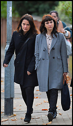Italian sisters Elisabetta (left) and Francesca Grillo (right, Grey Coat)arrive at Isleworth Crown Court,<br />