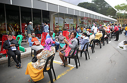 SOUTH AFRICA - Durban - 04 May 2020 - KZN Premier Sihle Zikalala led the command council to monitored compliance with level four regulations by citizens and businesses like Spar at Pinetown, Durban. People standing long queuees to recieve their grants.<br /> Picture: Motshwari Mofokeng/African News Agency (ANA)