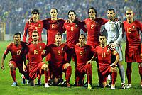 Fotball<br /> VM-kvalifisering<br /> Play Off<br /> Bosnia v Portugal<br /> 18.11.2009<br /> Foto: Gepa/Digitalsport<br /> NORWAY ONLY<br /> <br /> Bild zeigt die Mannschaft von Portugal mit Nani, Raul Meireles, Duda, Liedson, Simao Sabrosa (von vorne links); Paulo Ferreira, Ricardo Carvalho, Tiago, Bruno Alves, Eduardo und Pepe (POR/ von hinten links)<br /> <br /> Lagbilde Portugal
