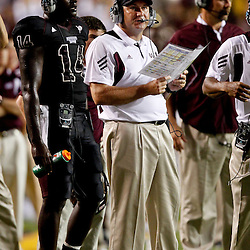 Sep 18, 2010; Baton Rouge, LA, USA;  Mississippi State Bulldogs head coach Dan Mullen during the second half against the LSU Tigers at Tiger Stadium. The LSU Tigers defeated the Mississippi State Bulldogs 29-7. Mandatory Credit: Derick E. Hingle