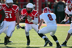 06 November 2010:  Ashton Leggett checks out on Donald D'Alesio during a game between the Penguins of Youngstown State and the Redbirds of Illinois State at Hancock Stadium on the campus of Illinois State University in Normal Illinois.