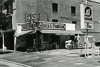 1987 The Juices Fountain on Vine St. near Hollywood Blvd.
