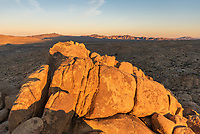 I went on an early morning hike so I could watch the sunrise from Mastodon Peak. It's not a very high peak, but it does provide a great 360° view of the southern part of Joshua Tree National Park. There is also an abandoned gold mine below the mountain.