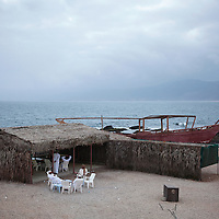 A local cafe on the Arabian Sea in the Dhofar Governorate.